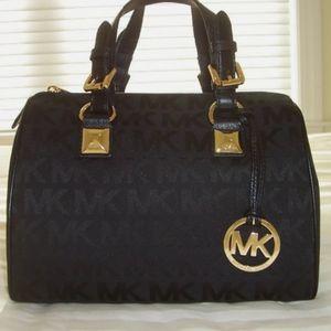 Michael Kors Black Signature Grayson Bag